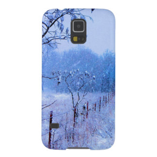 Winter Fencerow Galaxy S5 Cover