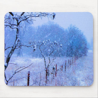Winter Fencerow Mouse Pad