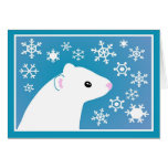 Winter ferret greetings greeting card