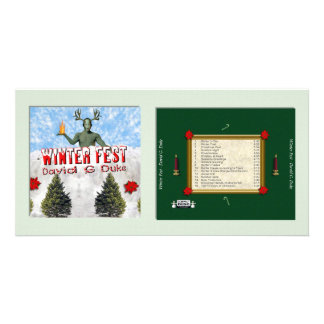 Winter Fest Personalized Photo Card
