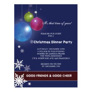 Winter Festivity Holiday Dinner Party Postcard