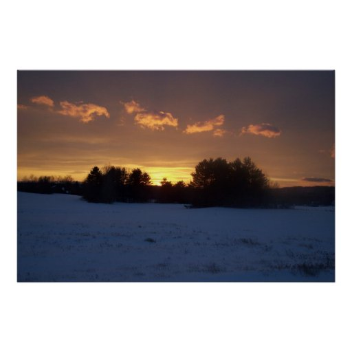 Winter Field Sunset 618 Print