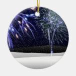 Winter Fireworks Christmas Ornaments