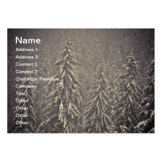 Winter firs large business cards (Pack of 100)