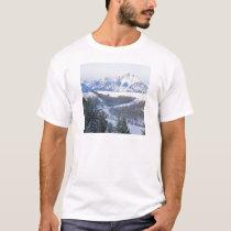 Winter First Snowfall Snake River Wyoming T-Shirt