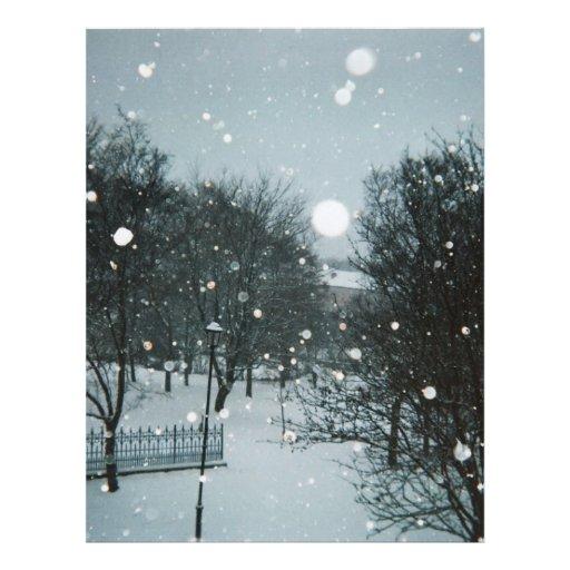 Winter Flakes Letterhead Design