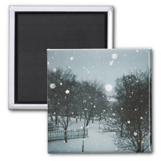 Winter Flakes 2 Inch Square Magnet