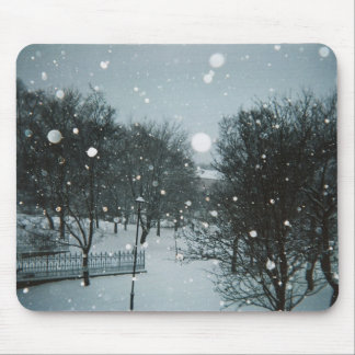 Winter Flakes Mouse Pads