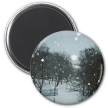 Winter Flakes Refrigerator Magnet