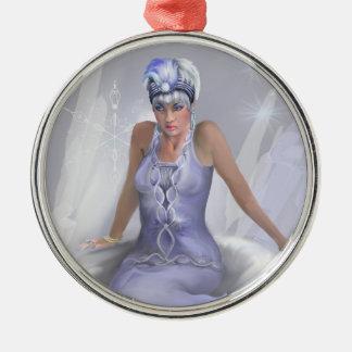 Winter Flame Premium Round Ornament