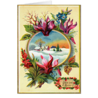 Winter Floral Card