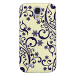 Winter flower snowflakes tendril pattern galaxy s4 case