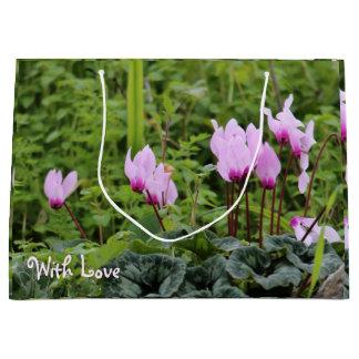 Winter Flowers In Tiberias, Israel Gift Tag Large Gift Bag