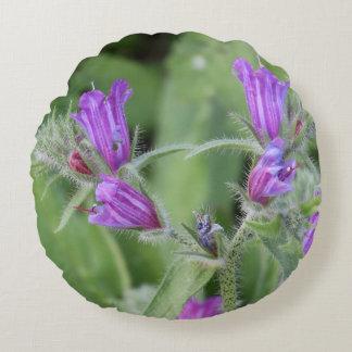Winter Flowers In Tiberias, Round Pillow
