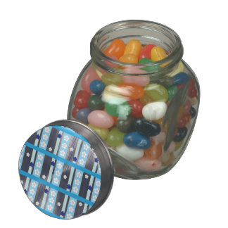 Winter Flowers Jelly Belly Candy Jar