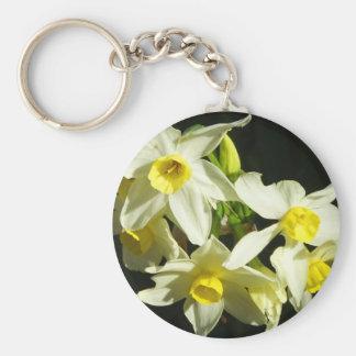 Winter Flowers Keychain