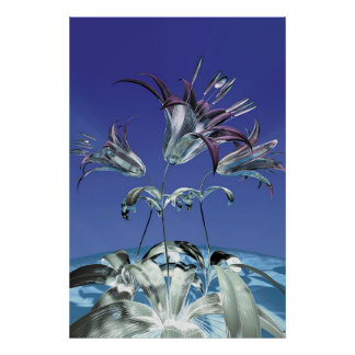 Winter flowers poster