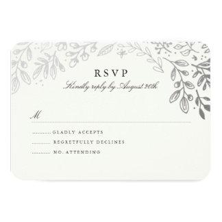 Winter Flowers RSVP Card
