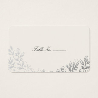 Winter Flowers Table Place Card
