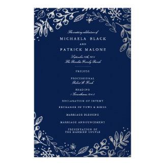 Winter Flowers Wedding Program