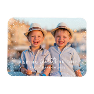 WINTER FLURRIES Christmas Photo Magnet