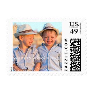 WINTER FLURRIES christmas postage stamp