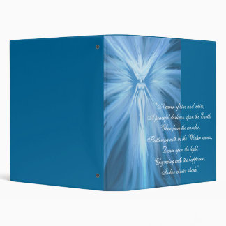 """Winter Flutter, """"A caress of blue and white,A p... Binder"""
