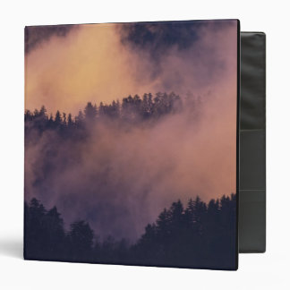 Winter fog in valley at sunset from Morton 3 Ring Binder