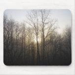 Winter Fog Morning Sunrise Nature Photography Mouse Pad