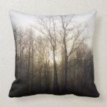 Winter Fog Morning Sunrise Nature Photography Pillow