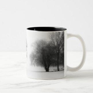 Winter Fog Two-Tone Coffee Mug