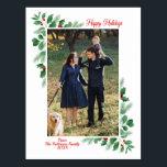 "Winter Foliage Happy Holidays Photo Postcard<br><div class=""desc"">Winter Foliage Happy Holidays Photo Postcard</div>"
