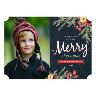 Winter Foliage Holiday Card