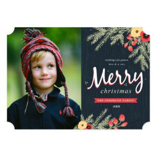 Winter Foliage Holiday Card Invites