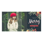 Winter Foliage Holiday Photo Cards at Zazzle
