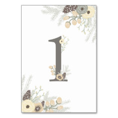 Winter Foliage Table Number 1 Card Table Card