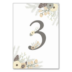 Winter Foliage Table Number 3 Card Table Card