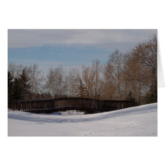 Winter Footbridge Card