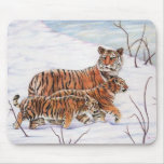 Winter Foragers Mousepad