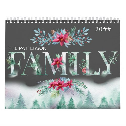Winter Forest 2 Photos a Month 2021 Family Picture Calendar