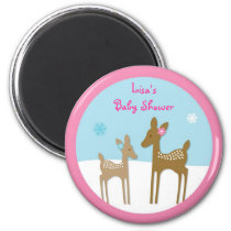 Winter Forest Animal Deer Party Favor Magnets