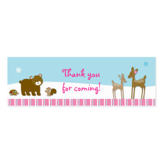 Winter Forest Animal Favor Gift Tags Business Cards