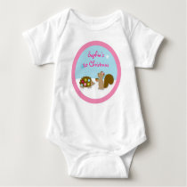 Winter Forest Animal Girls Baby T-Shirt