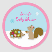 Winter Forest Animal Stickers Envelope Seals