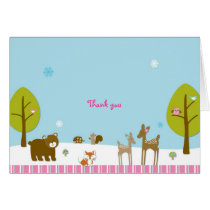 Winter Forest Animal Thank You Note Cards