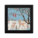 Winter Forest Animals Trinket Box