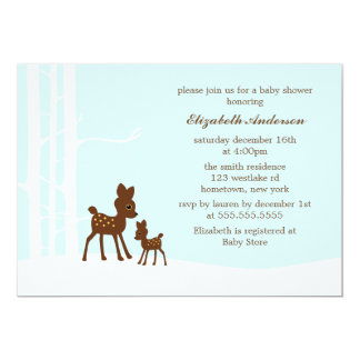 Winter Forest Baby Shower Card