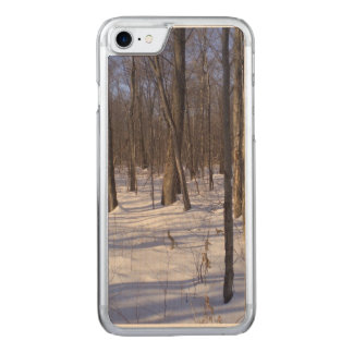Winter Forest Carved iPhone 7 Case