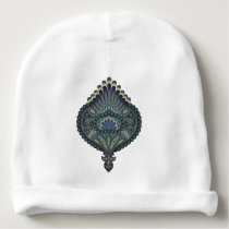 Winter Forest - Feathered Paisley Baby Beanie