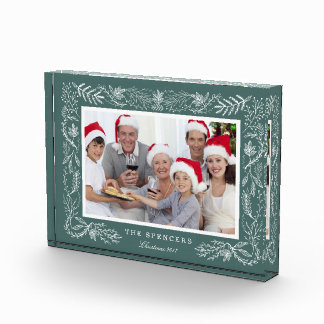 Winter Forest | Framed Holiday Photo Block